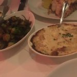 Brussel sprouts and Potatoes au gratin appetizers