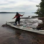 Out with guide on Lake Superior
