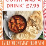 Curry night every Wednesday from 5pm
