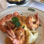 Angry Shrimp - Crispy shrimp in a spicy lobster sauce and whipped potatoes