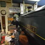 A real Steam Train complete with WWII Evacuee children.