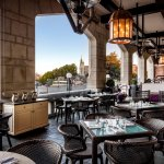 The Veranda is open during the summer months and overlooks Victoria's sparking inner harbour