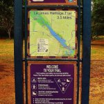 Sign and map for Lacamas Heritage Trail