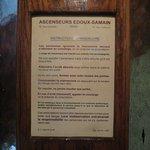Consigne de l'ascenseur de 1934