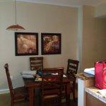 Dining room in 1 bedroom condo