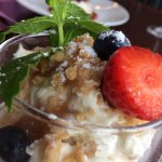 Rhubarb fool, dessert