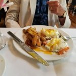 Eggs w/Salmon & potatoes