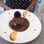 Spécialité maison le dessert Dauphin des Alpes