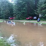 Some of the campground does flood in heavy rain