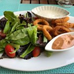 Calamari with a light side salad.