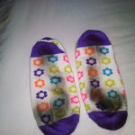 My socks after 10-15 minutes walking in the room