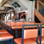 indoor area of restaurant.