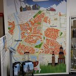 big map of Zuthpen on the wall