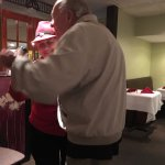 My Dad dancing with accordion player - This is actually from February 2017