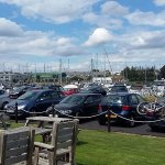 We sat outside and ate our lunch overlooking the marina - really interesting outlook