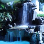 Waterfall and slide - lovely atmosphere