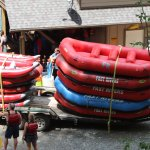 We used 4-6 person rafts as well as several 2 person funyaks