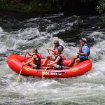 This is just one of many of the class II rapids that we experienced on the Nantahala