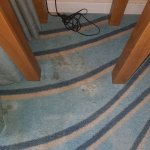 Carpet stained and dirty