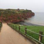 Steep path to beach