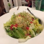 A salad made from produce harvested from the museum grounds: fresher than fresh!