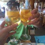 Peach sangria cheers