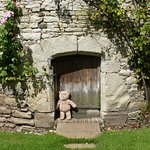 I thought this little door in the dovecote just the right size for a small bear.