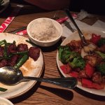 Mongolian Beef and Sesame Chicken