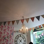 Bunting, florals and clocks - perfect!