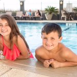 Family fun at the outdoor pool.