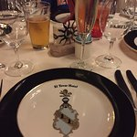 Table settings were lovely.