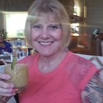 Pam with Passion Fruit margarita