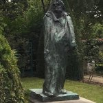 Balzac sculpture in the Rodin Gardens