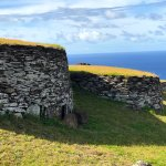 Ruins of the ceremonial village of Orongo on Rano Kau.