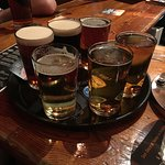 Two flights of beer at the Porterhouse