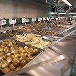 Fresh olive and antipasto bar