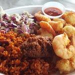 Shrimp & scallops plate