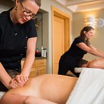 Enjoy a Shared Space for Two massage at the Aspen Leaf Day Spa.