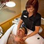 Enjoy a Gentleman's Facial at the Aspen Leaf Day Spa.