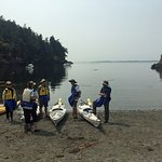 Launching kayaks from county park