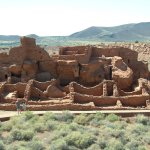 The ruins of the pueblos.