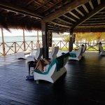 Huge tiki hut bar at beach