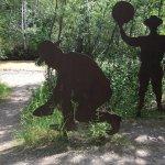 Spot on Bonanza Creek where the Klondike Gold Rush first started... first gold claim!
