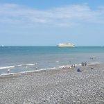 Dieppe plage galet et sable marée basse !