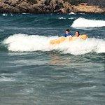 Lounger view. Lizard. Surfing waves :)