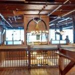 The upstairs bar