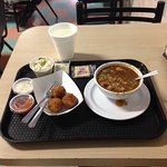 Gumbo and Crab Balls with a Little Coleslaw on the Side
