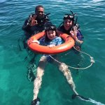 Diving instruction with patient and fun staff.