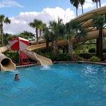 Less steep water slides