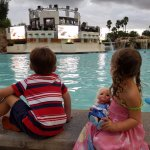 Movies at the pool each evening